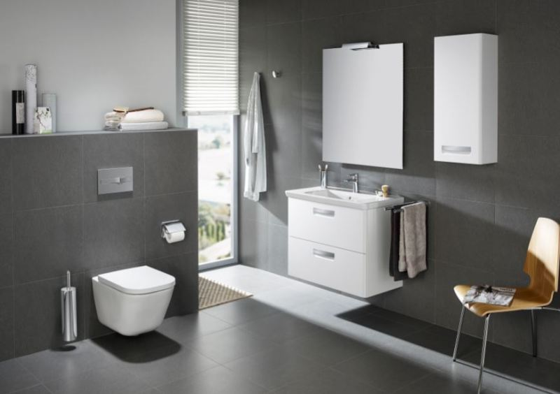 CleanRim The Gap wall-hung WC is easy to clean, inside and out
