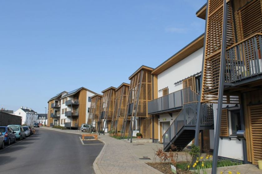 Hanham Hall - the first site in the government's Carbon Challenge initiative - designed to test the Code for Sustainable Homes to its highest level - namely level 6