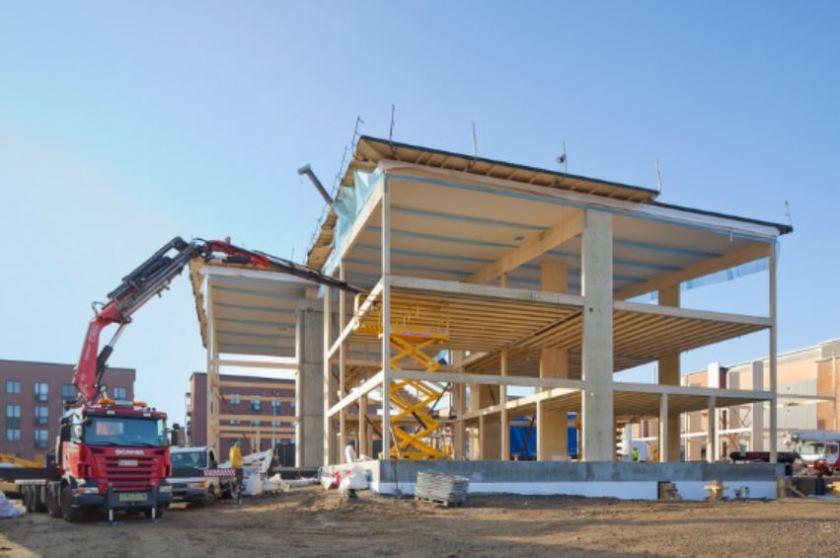 Wooden multi-storey building in Viikki