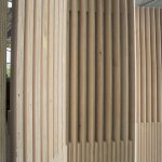 Plywood canopy gives London hospital the wow factor