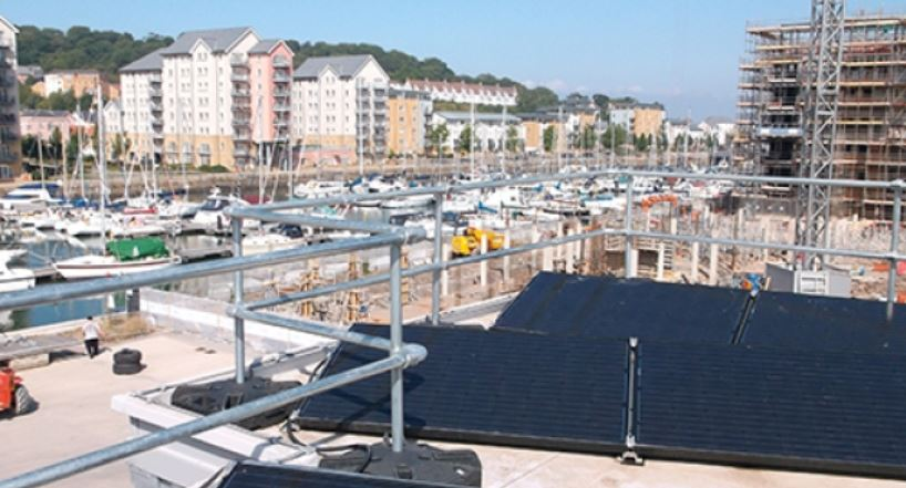 Edge protection for solar panel maintenance