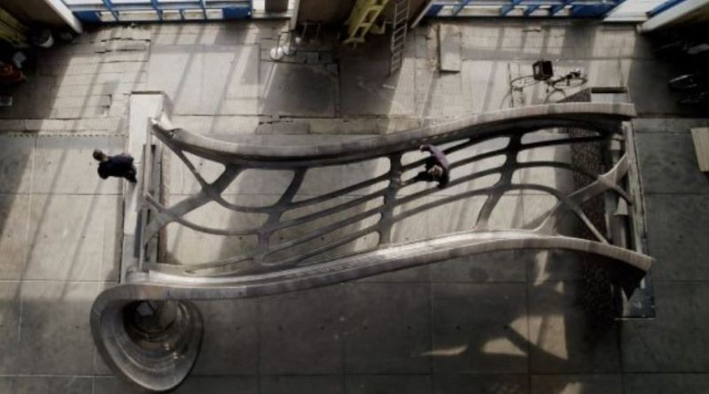 MX3D Printed Bridge Top View, ©Joris Laarman Lab