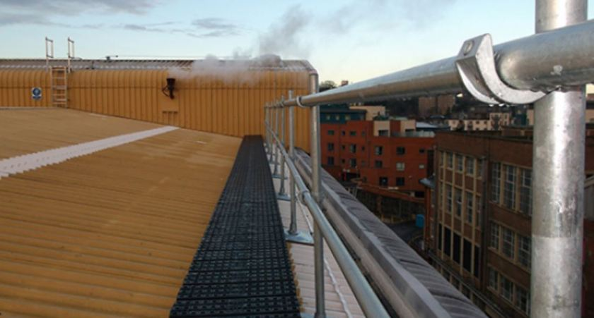 New Rooftop Walkway with Guardrail
