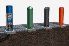 Power Bollards – an effective outdoor power supply in elegant street furniture design