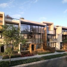 Luxury modern multifamily project recently completed in West Hollywood