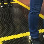 Social distancing flooring to safeguard health and welfare