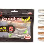 Manns / Quantum Q-Paddler 8cm Salt & Pepper UV Tail & Sand Goby Clear Water Mix