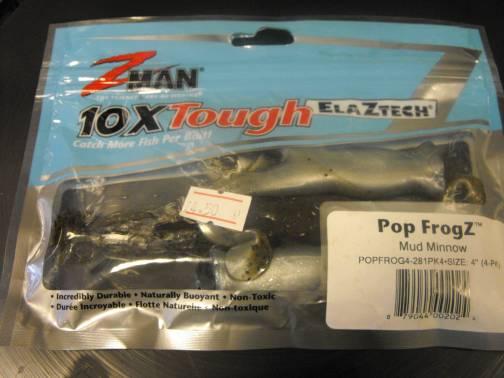 Z-Man Pop FrogZ 4'' Mud Minnow 4 Pack