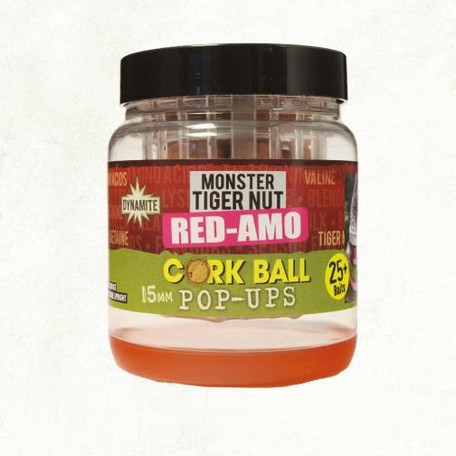 Dynamite Baits Red-Amo Cork Ball pop-ups 15mm Fluro