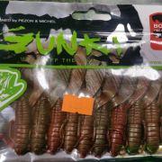 """Gunki Boogie Craws 3"""" Full Red Glitter 10 pack"""