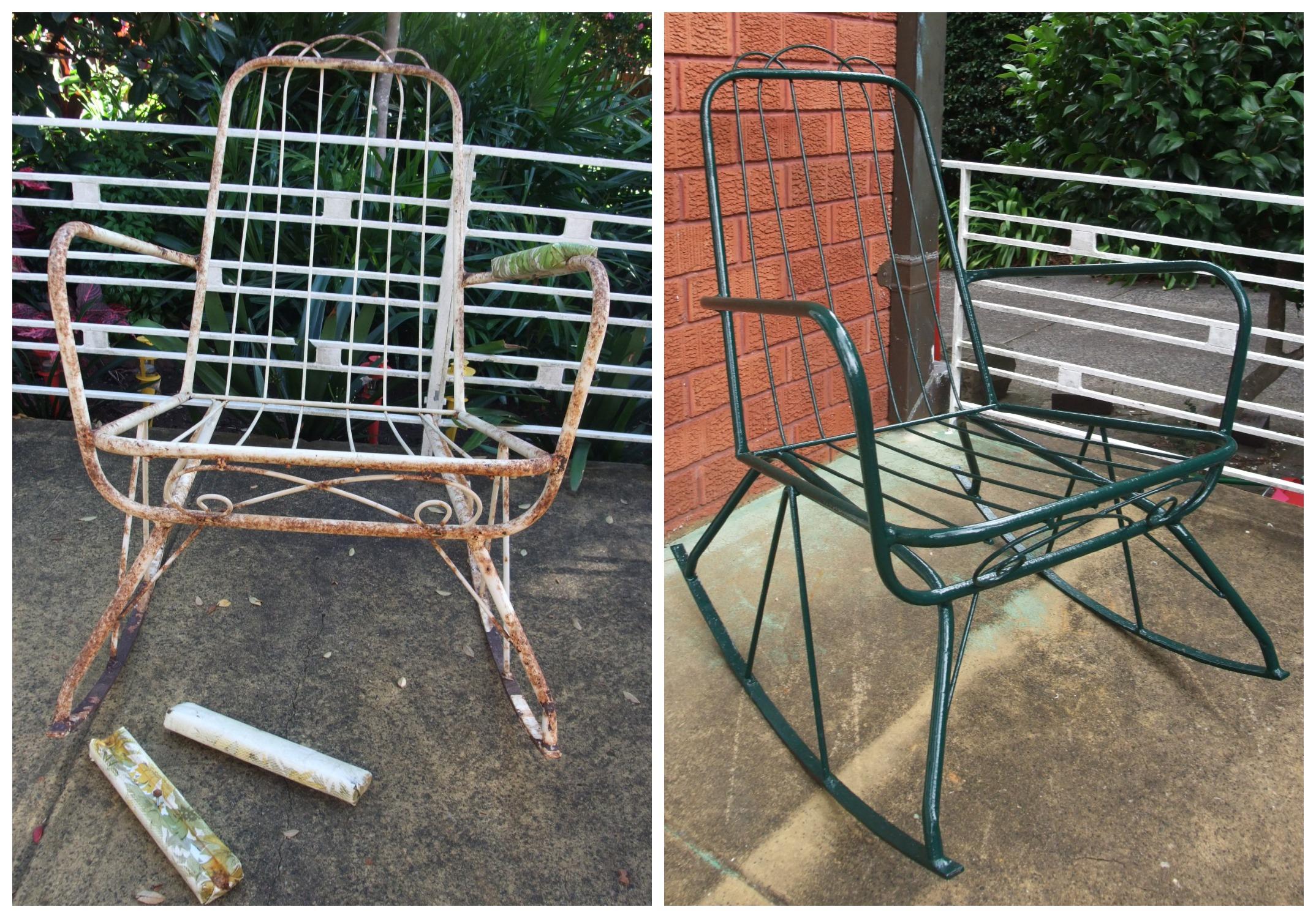 refurbishing vintage patio chairs