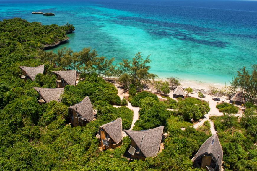 Bungalows at Chumbe Island Zanzibar