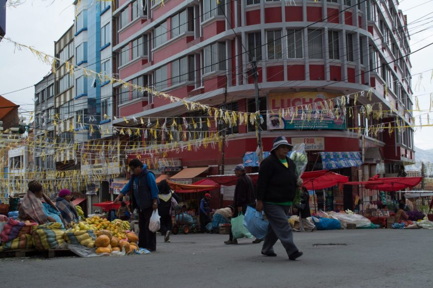 markets of La Paz, Bolivia