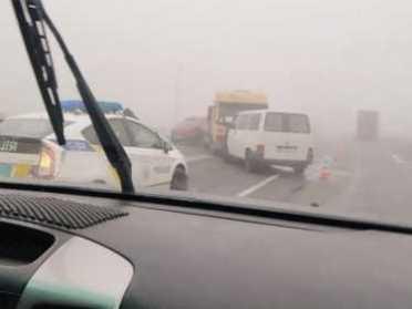В Олександрії через туман та ожеледь зіткнулися 7 авто (ФОТО)