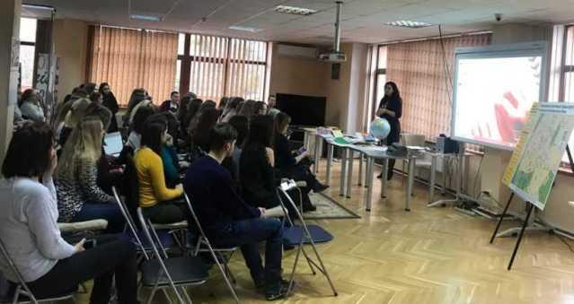 Рівненські студенти вивчали шрифт Брайля