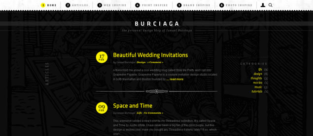 Ismael Burciaga - Awesome Blog Designs