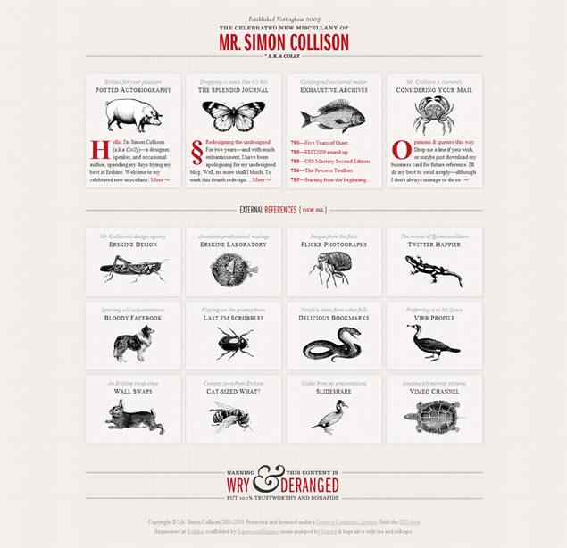 Simon Collison - Awesome Blog Designs