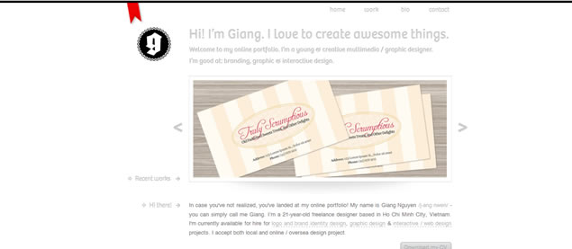 Giang Nguyen - Awesome Blog Designs