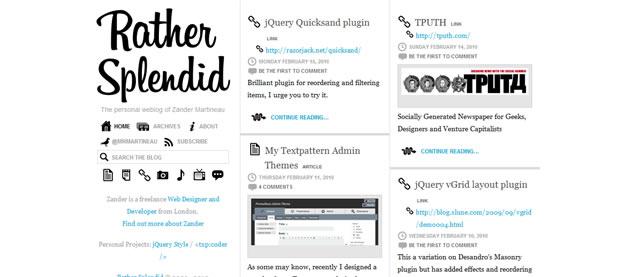 Zander Martineau - Awesome Blog Designs
