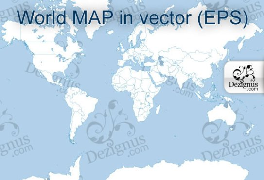 World Map in Vector (.eps format)