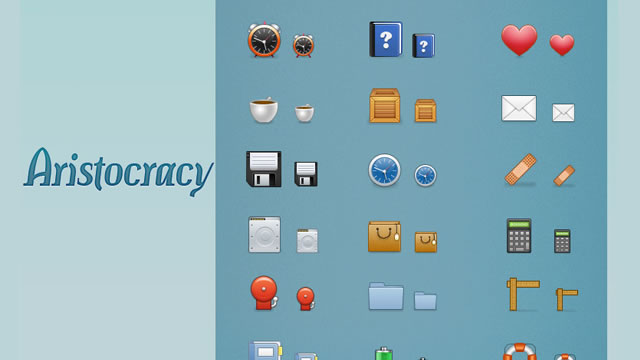 The Aristocracy Web Icon Set