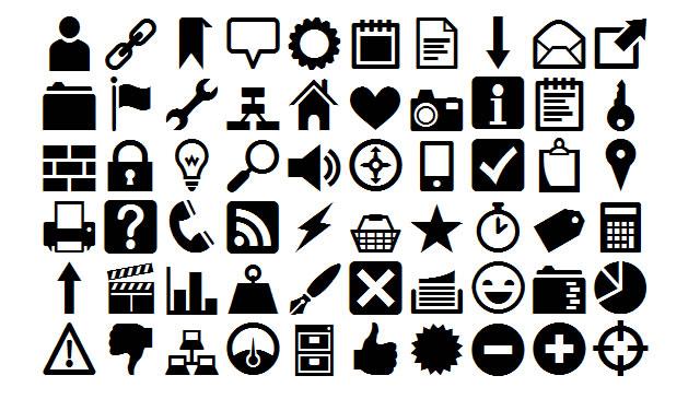 A Free Icon Web Font @fontface font