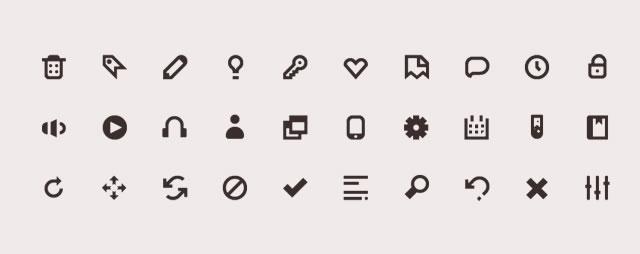 Iconic Icon Set @fontface font