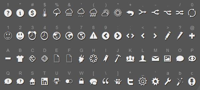 Raphaël Icon-Set @fontface font