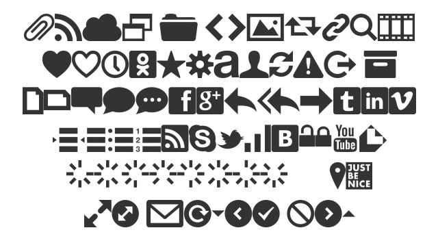 Web Symbols @fontface font
