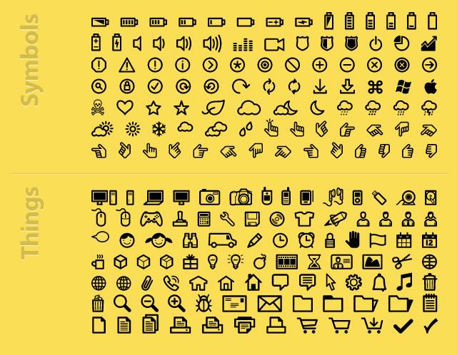 InfoBits Icons & Dingbats @fontface font