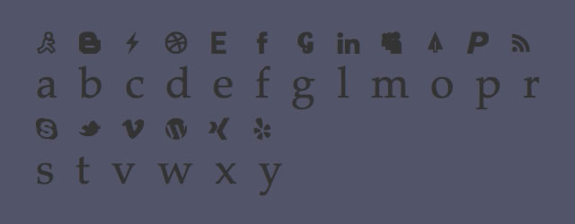Writesocial @fontface font