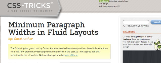 Minimum Paragraph Widths in Fluid Layouts