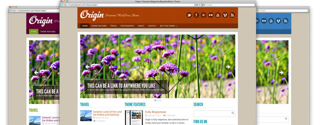 Origin - Free WordPress Theme