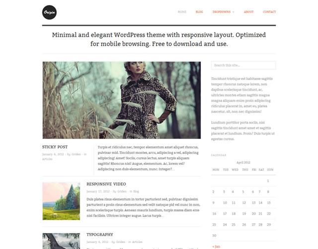 20 nuevos y Gratis WordPress Temas Minimalistas