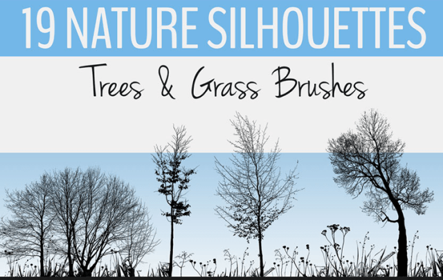Tree and Grass Photoshop Brush Sets