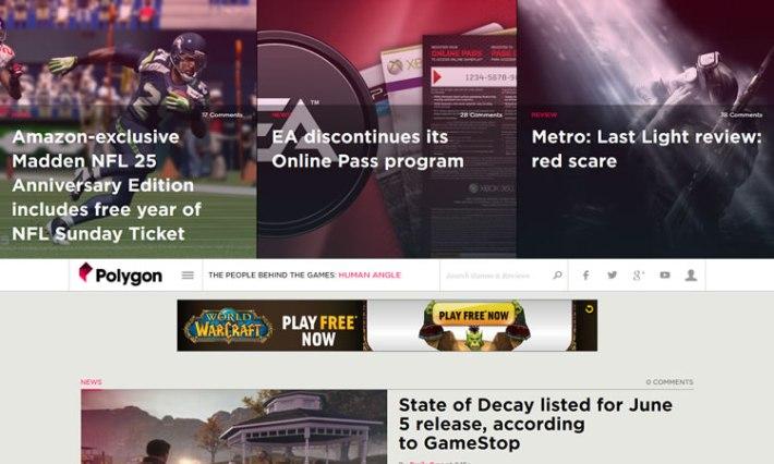 content heavy websites Polygon Inspiration
