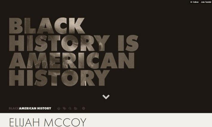 Black In History content heavy web design Inspiration