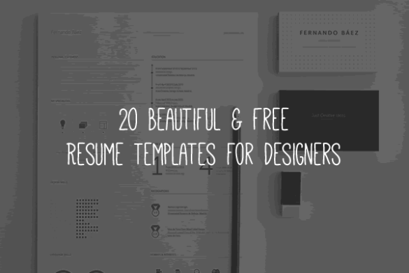 20 Beautiful   Free Resume Templates for Designers free resume template thumb png