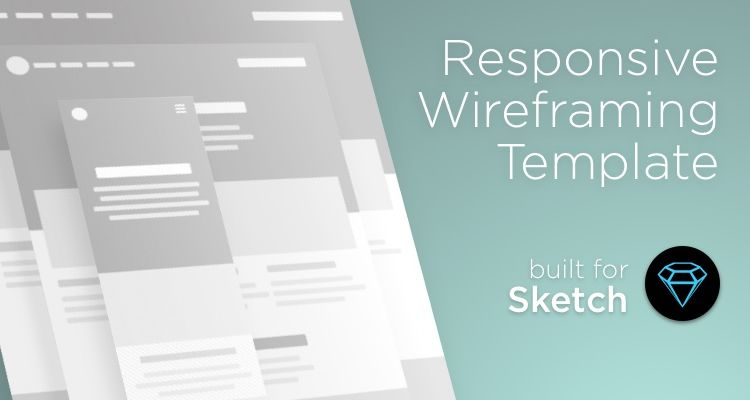 50 Free Wireframe Templates for Mobile  Web and UX Design Responsive sketch web design development free wireframe kit template UI  design