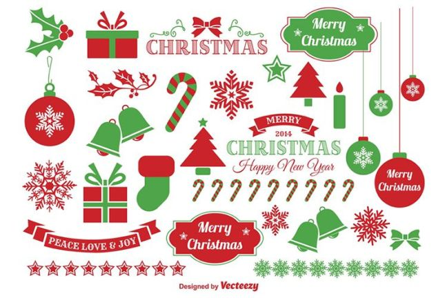 Jingle Bells Christmas Vector Elements vacaciones gratis