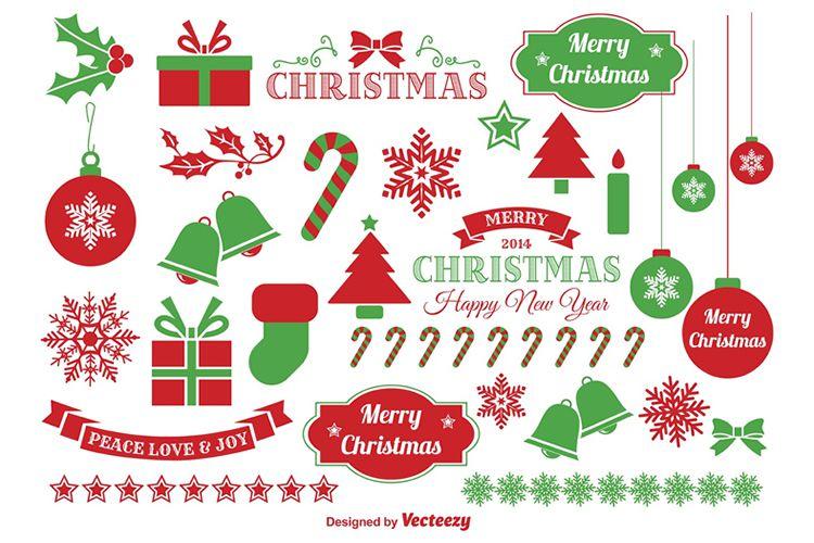 Jingle Bells Christmas Vector Elements vacaciones gratis