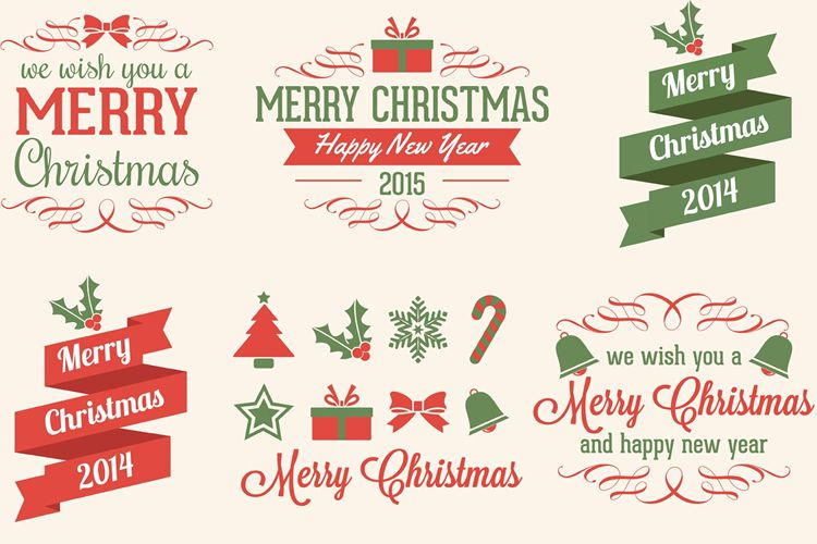 Christmas Vector Elements free holidays