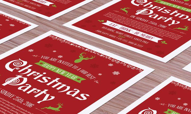 Maquetas gratis de Flyer de Navidad