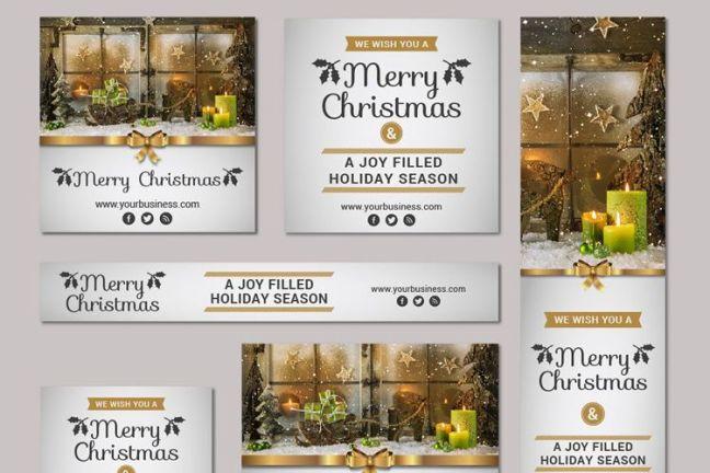 Enorme Navidad Año Nuevo Vector Banner Kit vacaciones gratis