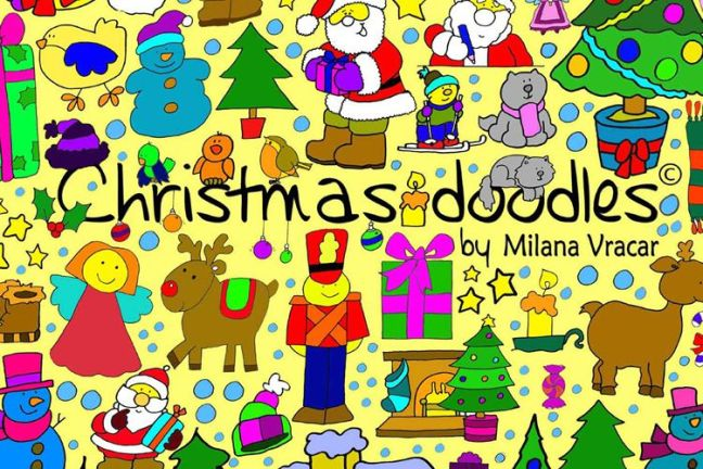 126 Christmas Doodles Brush Pack vacaciones gratis