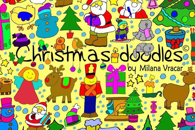 126 Christmas Doodles Brush Pack vacaciones gratis