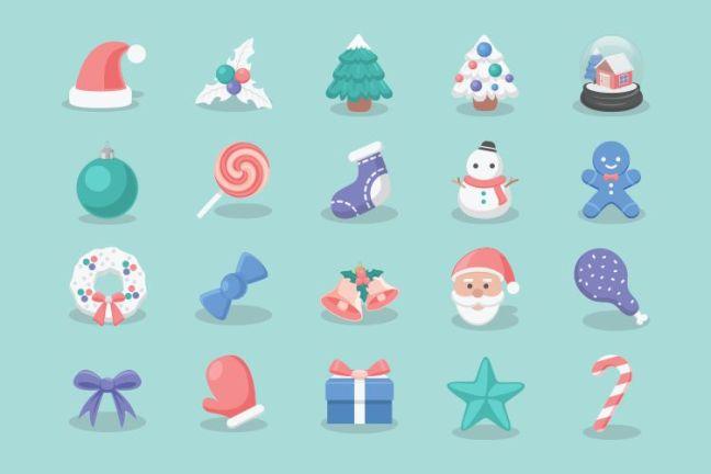 20 iconos de Navidad gratis vacaciones gratis
