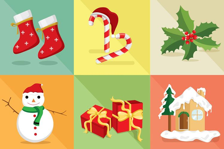Christmas Vector Icon Set vacaciones gratis