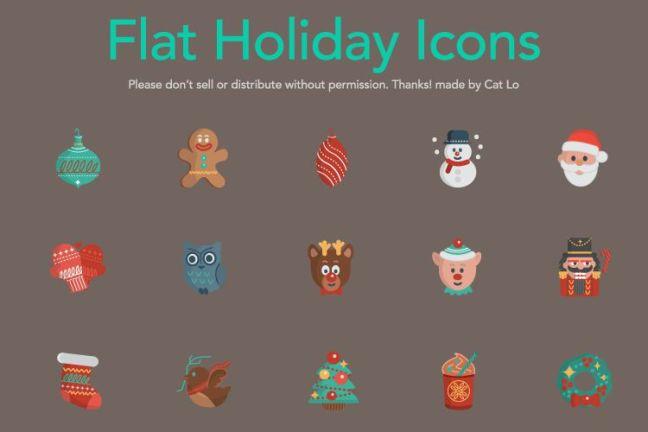 16 Vector Christmas Icons vacaciones gratis