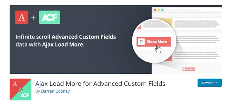 Ajax Load More for Advanced Custom Fields